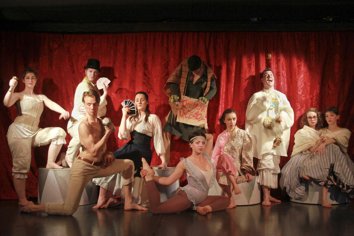 The cast as their circus personae.