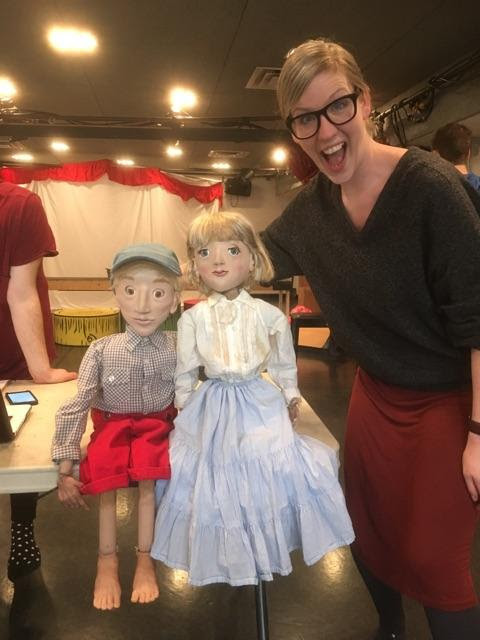 The puppets have clothes!