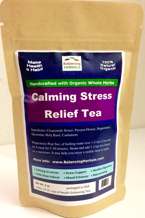 Calming Stress Relief Tea