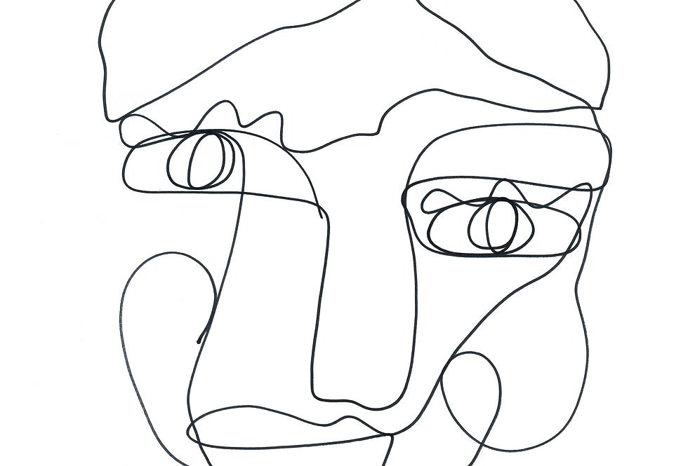 Sal | One Line Art Print