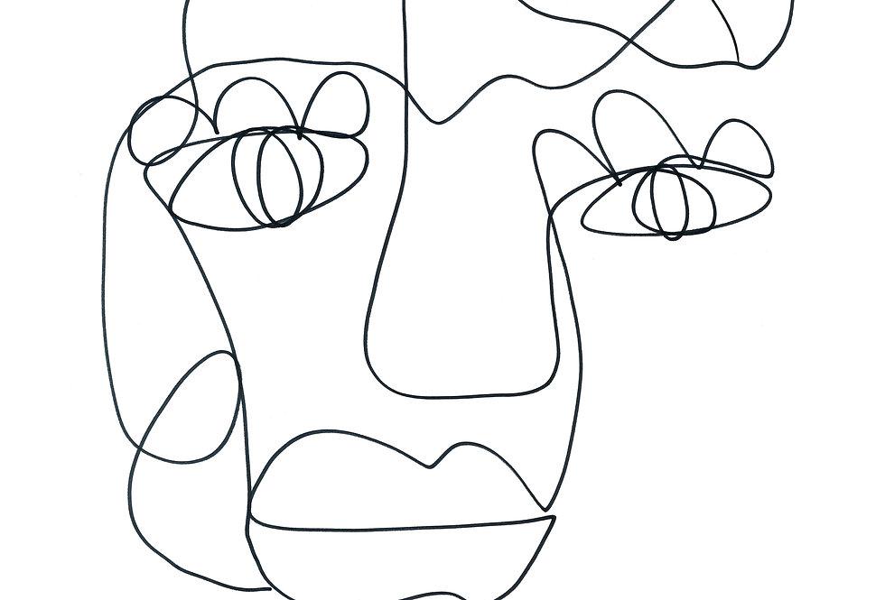 Tillie | One Line Art Print