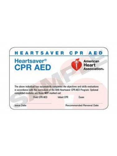 Heartsaver CPR AED Card