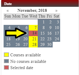 Step 4.B: Select Preferred Course Date and Time