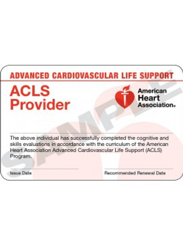 ACLS Provider Card