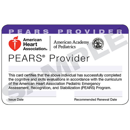PEARS Provider Card