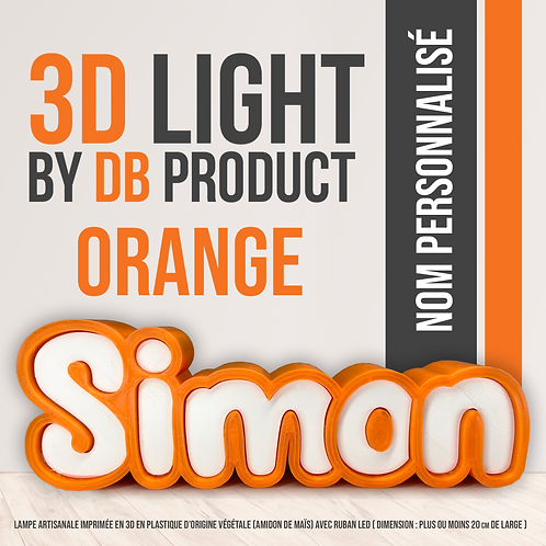 3D Light Orange