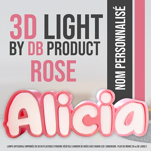 3D Light Rose