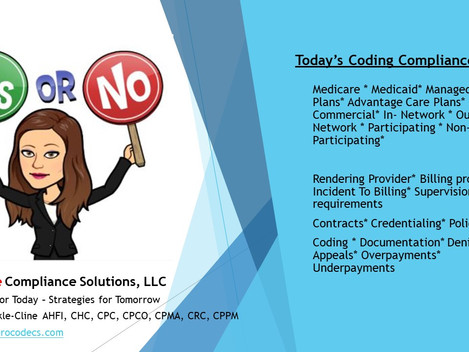 Coding & Compliance Tip