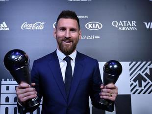 Messi gana el ''The Best'' a mejor jugador del año.