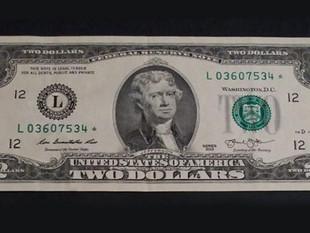Circulará billete de 2 dólares en Ecuador, desde el 1 de mayo