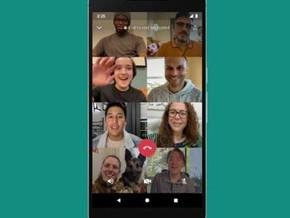 Las llamadas y videollamadas de WhatsApp ya admiten 8 participantes.