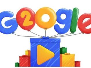 Google festeja sus 20 años con doodle de las búsquedas más populares.