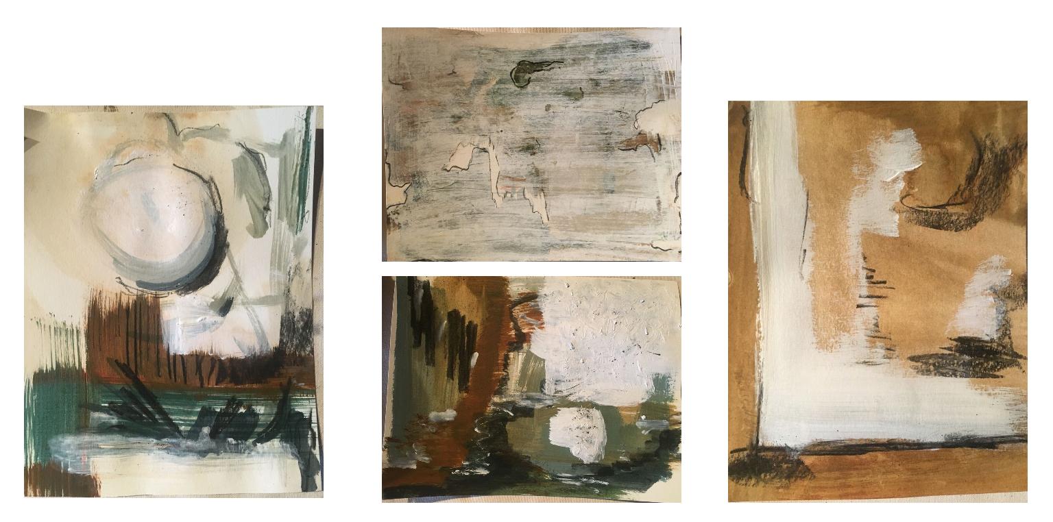 Paper series 1 - Composition of Cobalt Blue and Orange