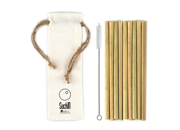 Bamboo straws - Pack of 8