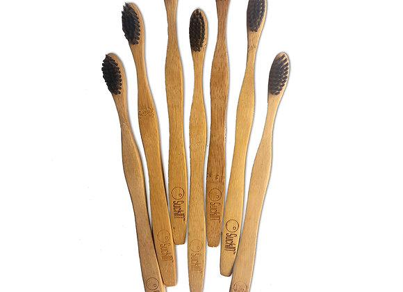 Bamboo Charcoal Toothbrush - Pack of 2