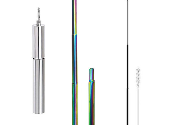 Collapsible Straw - Rainbow
