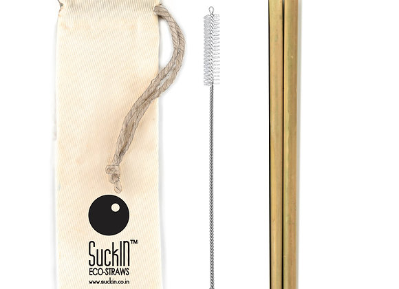 Bamboo straws - Pack of 2