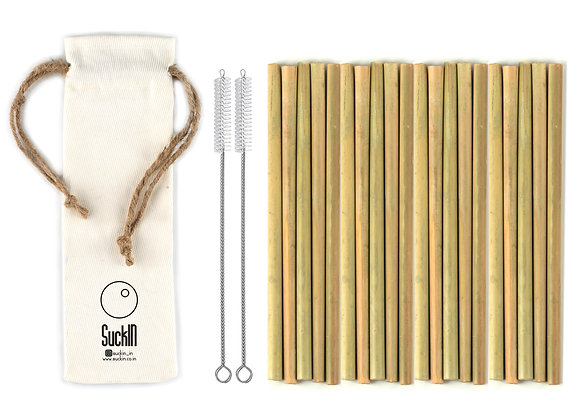 Bamboo Straws - Packet of 20