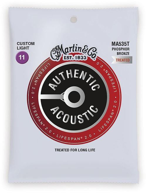 Martin LifeSpan 2.0 Phosphor Bronze - Acoustic Guitar - Custom Light (11-52)