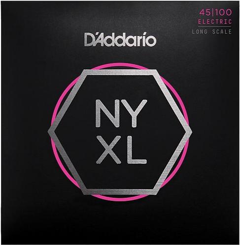 D'Addario NYXL 45100 - Nickel Round Wound Bass Guitar, Regular Light (45-100)