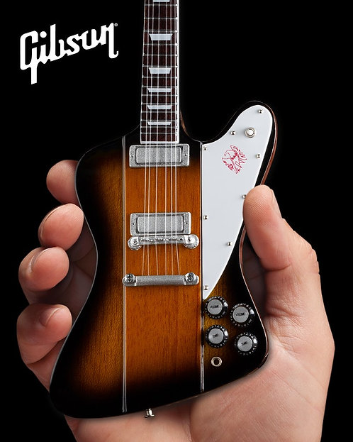 Gibson Firebird V Vintage Sunburst 1:4 Scale Mini Guitar Model