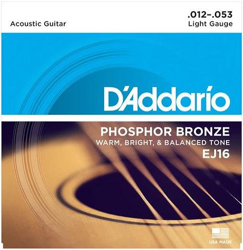 D'Addario EJ16 Phosphor Bronze Acoustic Guitar - Regular Light (12-53)