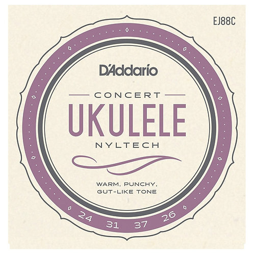 D'Addario EJ88C Nyltech Ukulele - Concert