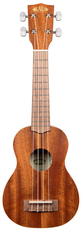 KALA Satin Mahogany Soprano Ukulele, with Bag