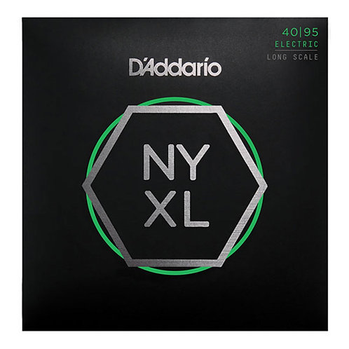 D'Addario NYXL 4095 - Nickel Round Wound Bass Guitar, Super Light (40-95)