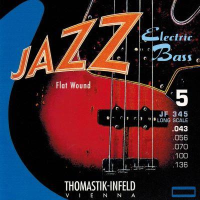 Thomastik JF345 Electric Bass - 5 Strings JAZZ Flatwound (43-136)