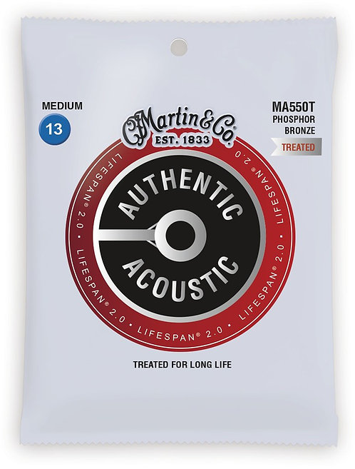 Martin LifeSpan 2.0 Phosphor Bronze - Acoustic Guitar - Medium (13-56)