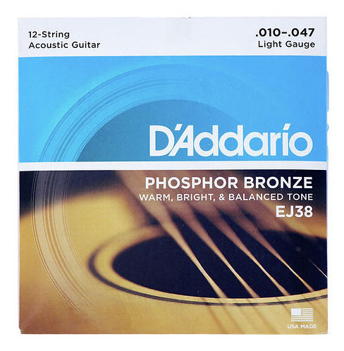 Daddario EJ38 - 12 String Acoustic Guitar