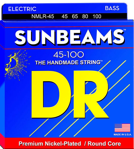 DR Strings NMLR-45 Sunbeam Bass Guitar, Tite Medium (45-105)