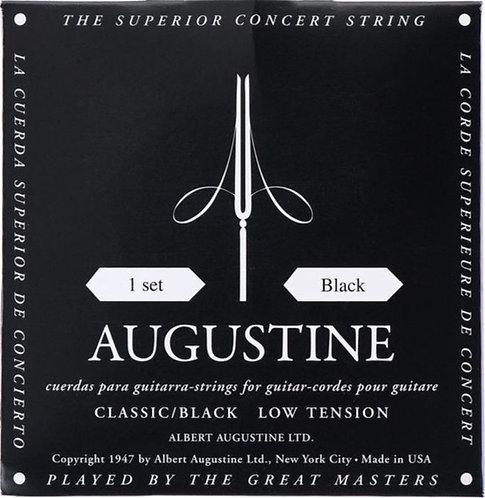 Augustine Classical Guitar - Classic BLACK Satz Low Tension