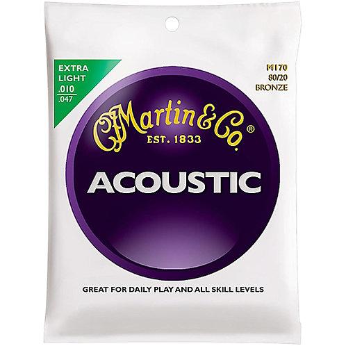 Martin Guitars M170 Bronze 80/20 Acoustic Guitar Strings - Extra Light (10-47)