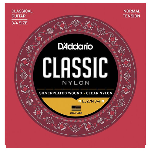 D'Addario EJ27N 3/4 - Classical Guitar Strings 3/4 Scale
