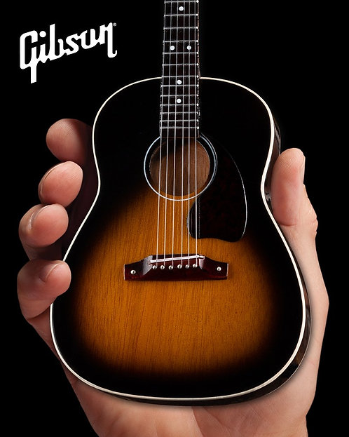 Gibson J-45 Vintage Sunburst 1:4 Scale Mini Guitar Model