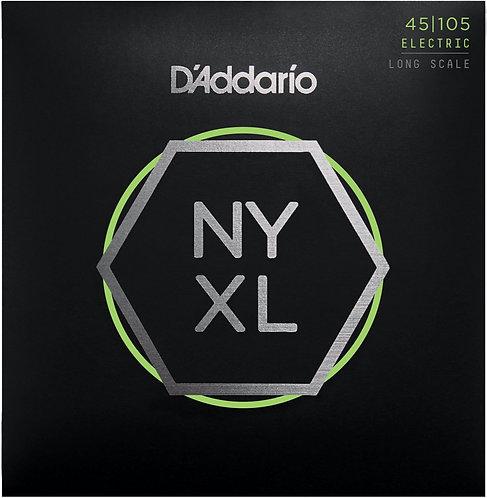 D'Addario NYXL 45105 - Nickel R/W Bass Guitar, Reg. Top / Med. Bottom (45-105)