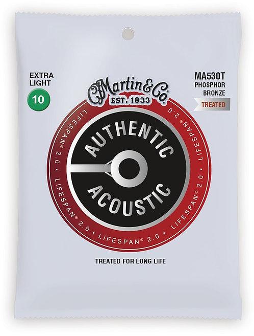 Martin LifeSpan 2.0 Phosphor Bronze - Acoustic Guitar - Extra Light (10-47)
