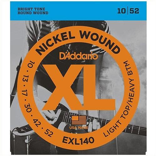 D'Addario EXL140 Nickel Wound Electric Guitar - Light Top/Heavy Bottom (10-52)