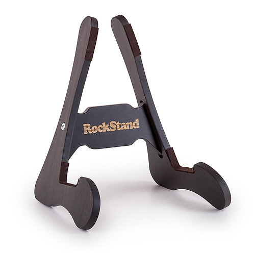 RockStand Wood A-Frame Stand - for Electric Guitar & Bass - Rustic Oak Finish