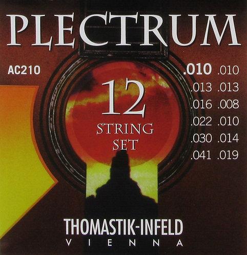 Thomastik-Infeld Plectrum 12 String Set - AC210 Extra Light Flatwound (10-41)