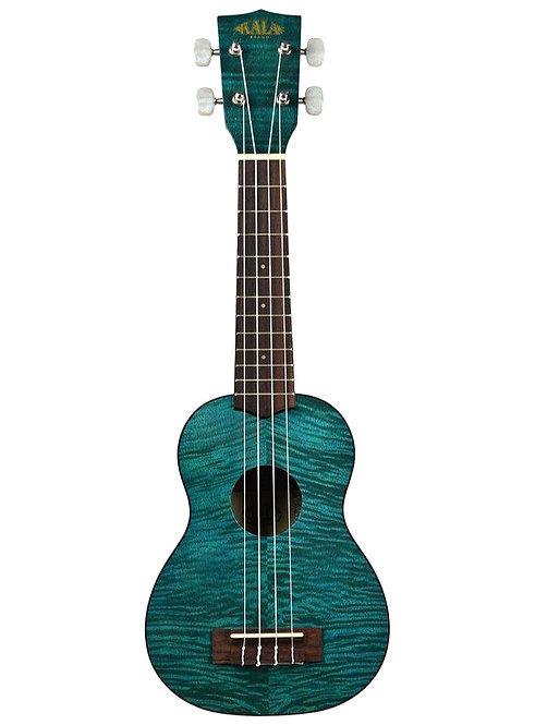 KALA Blue Exotic Mahogany Soprano Ukulele, with Bag