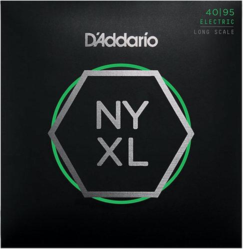 D'Addario NYXL 4095 - Nickel R/W Bass Guitar, Super Light (40-95)