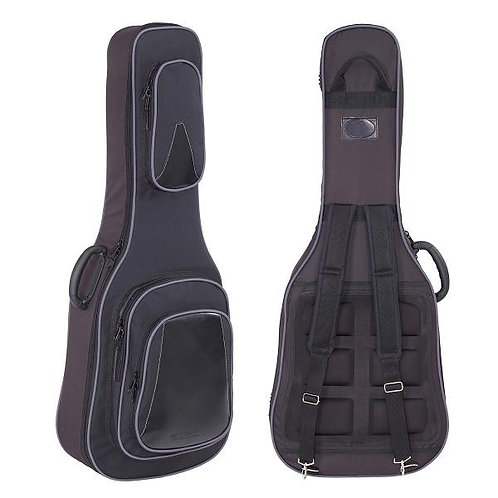 StefyLine, Acoustic Guitar Professional Gig Bag, padding 20mm, Black