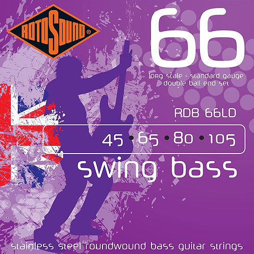 """ROTOSOUND RDB66LD Nickel Wound """"Double Ball End"""" Bass Strings, Standard (45-105)"""