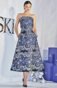 Model Miranda Kerr wearing Osman at a Swarvoski press launch in LA, 2015