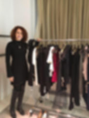 Personal stylist client shopping in London