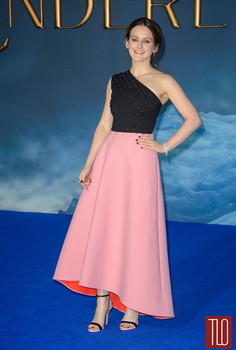 Actress Sophie McShera wearing Osman to the Cinderella Premiere in, 2015