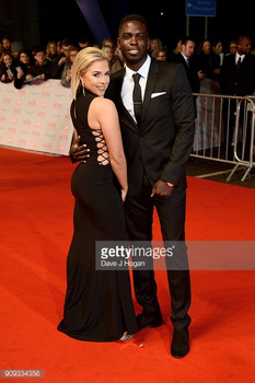 Gabby Allen, of Love Island wearing Pretty Little Thing at the National Television Awards, 2018